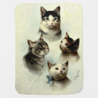 Cute Cats Baby Blankets