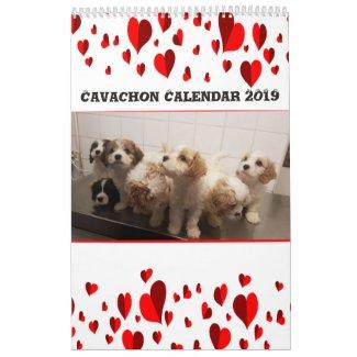 Cute Cavachons Calendar