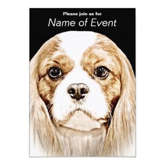 Cute Cavalier King Charles Spaniel Card