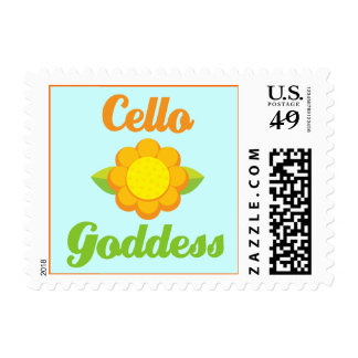 Cute Cello Goddess Postage Stamp