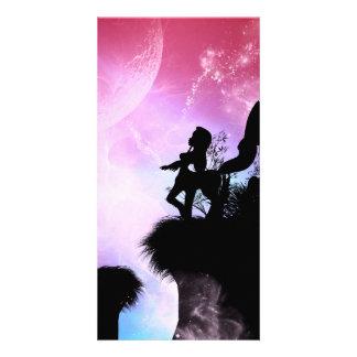 Cute centaurs silhouette card