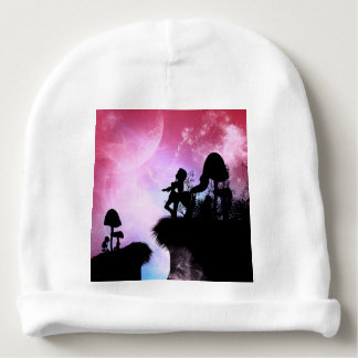 Cute centaurs silhouette in the night baby beanie