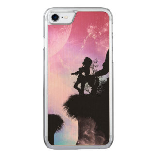 Cute centaurs silhouette in the night carved iPhone 8/7 case
