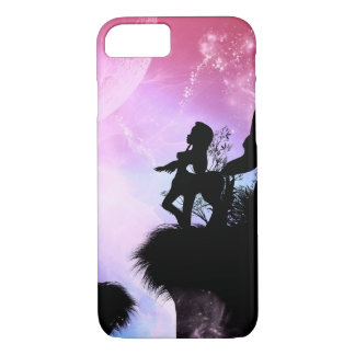 Cute centaurs silhouette in the night iPhone 8/7 case
