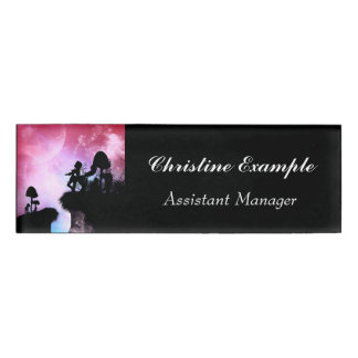 Cute centaurs silhouette in the night name tag
