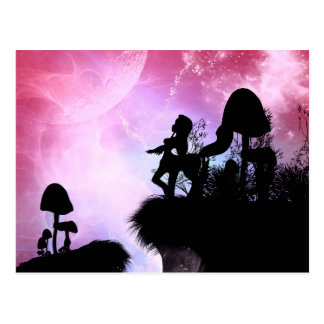 Cute centaurs silhouette postcard