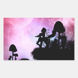 Cute centaurs silhouette rectangular sticker