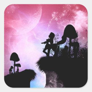 Cute centaurs silhouette square sticker