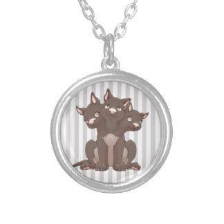 Cute cerberus puppy custom jewelry