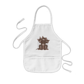 Cute cerberus puppy kids' apron
