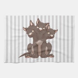 Cute cerberus puppy kitchen towel