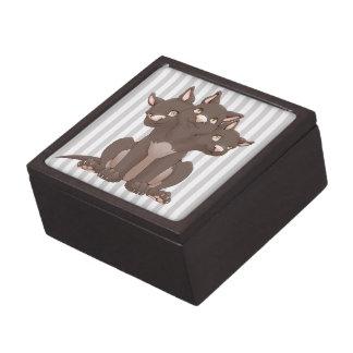 Cute cerberus puppy premium keepsake boxes
