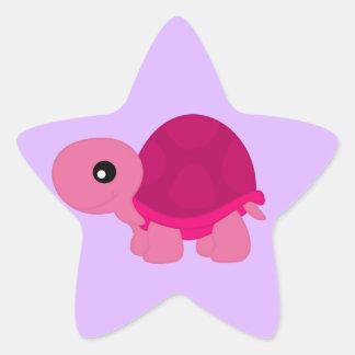 Cute Cerise Tortoise Star Sticker