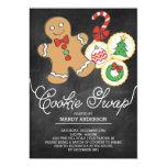 Cute Chalkboard Holiday Cookie Swap Card