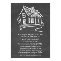 Cute Chalkboard New Home Housewarming Invitations