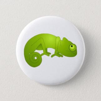 Cute Chameleon - Green Button