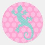 Cute Chameleon Round Sticker