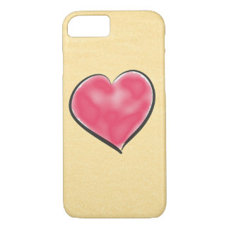 Cute Champagne Color Red Heart iPhone 8/7 Case