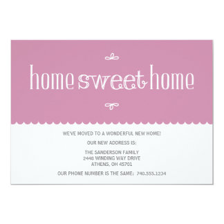 "Cute Change of Address Announcement 5"" X 7"" Invitation Card"