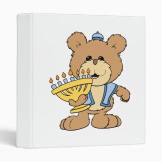 cute Chanukah  hanukkah Menorah teddy bear Binder