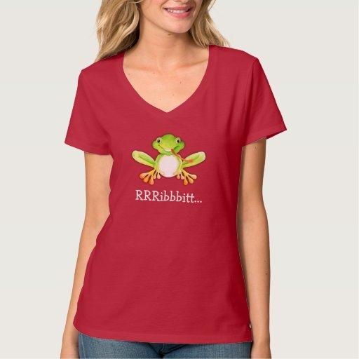 Cute character frog tongue out RRRibbitt.. t-shirt