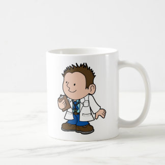 cute character male doctor coffee mug