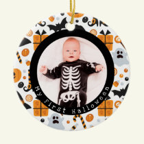 Cute Characters Baby's First Halloween Ornament