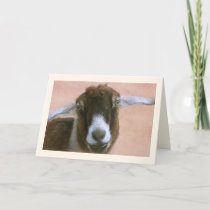 Cute Charming Goat Mother's Day Holiday Card