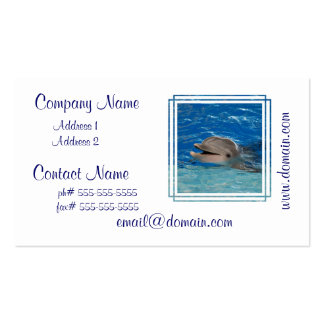Cute Chattering Dolphin Double-Sided Standard Business Cards (Pack Of 100)