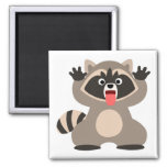 Cute Cheeky Cartoon Raccoon Magnet