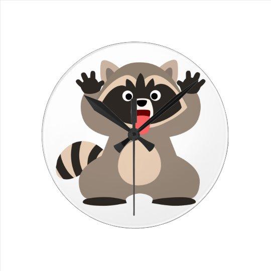 Raccoon Wall Clocks Zazzle