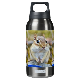 Cute Cheeky Chipmunk Insulated Water Bottle