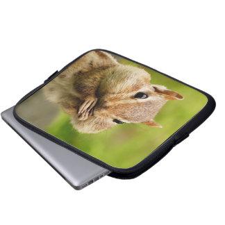 Cute Cheeky Chipmunk Laptop Sleeve