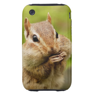 Cute Cheeky Chipmunk Tough iPhone 3 Case