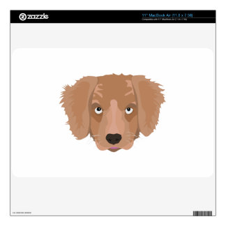 Cute cheeky Puppy Skins For MacBook
