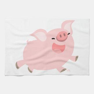 Charming Cute Cheerful Cartoon Pig Kitchen Towel