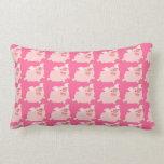 Cute Cheerful Cartoon Pig Lumbar Pillow