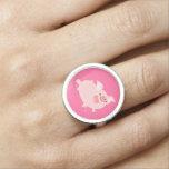 Cute Cheerful Cartoon Pig Ring
