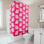 Cute Cheerful Cartoon Pigs Pattern Shower Curtain