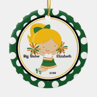 Cute Cheerleader Big Sister Christmas Ornament