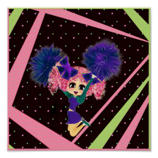 Cute Cheerleader gifts personalized Poster