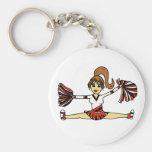 Cute Cheerleader Keychain