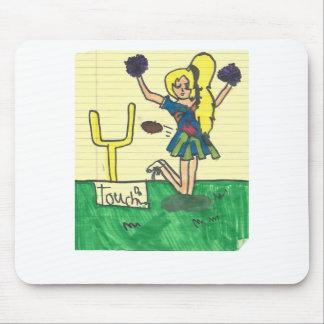 Cute cheerleader mouse pad
