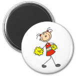 Cute Cheerleading Stick Figure Magnet Magnets