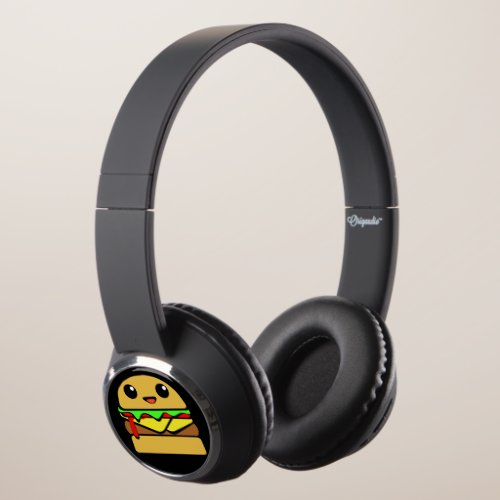Cute Cheeseburger Character Headphones