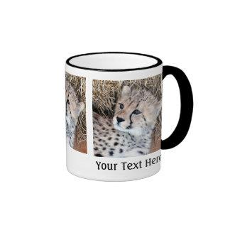 Cute Cheetah Cub Photo Ringer Coffee Mug