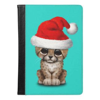 Cute Cheetah Cub Wearing a Santa Hat iPad Air Case