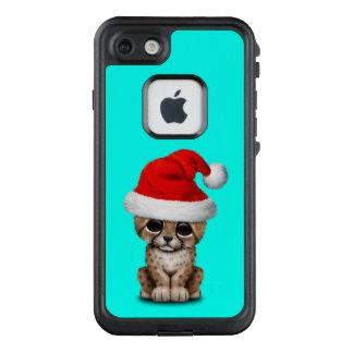 Cute Cheetah Cub Wearing a Santa Hat LifeProof FRĒ iPhone 7 Case