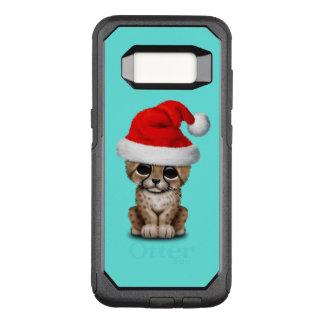 Cute Cheetah Cub Wearing a Santa Hat OtterBox Commuter Samsung Galaxy S8 Case