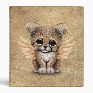 Cute Cheetah Cub with Fairy Wings 3 Ring Binder